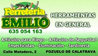 Ferretería EMILIO - Herramientas en General - Matadero, 2 - 635 054 163 - Pozuelo de Calatrava