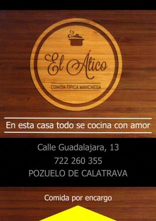 El Ático - Comida Típica Manchega - Guadalajara, 12 - POZUELO DE CALATRAVA