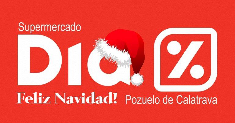 Supermercado DIA Feliz Navidad Pozuelo de Calatrava