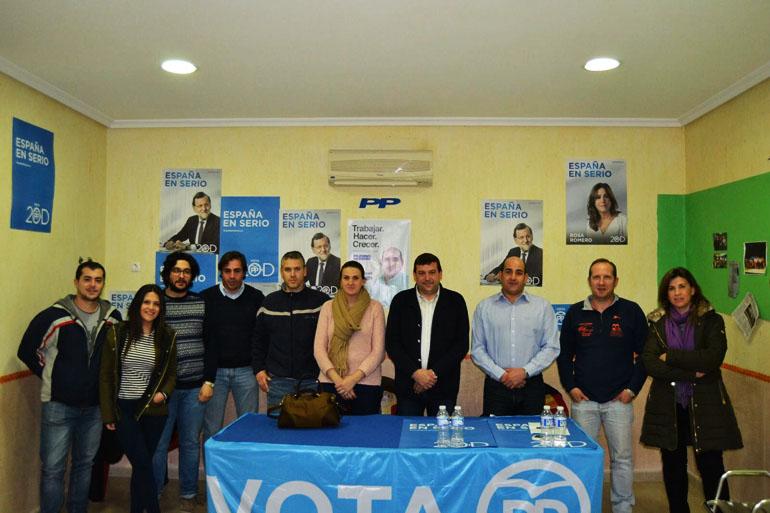 El diputado provincial Félix Martín ha mantenido una reunión de trabajo con la Junta Local del PP de Pozuelo de Calatrava