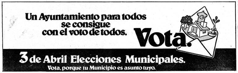 Las primeras elecciones municipales llegan a España tras 40 años de dictadura