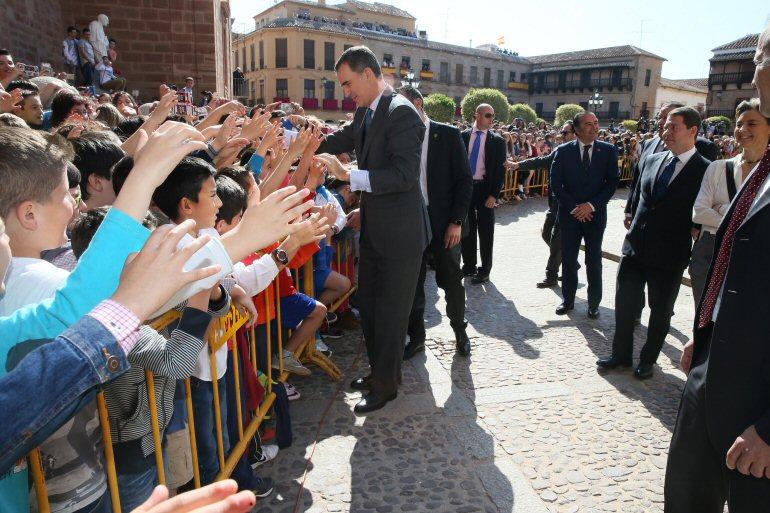 Villanueva de los Infantes se vuelcan con los Reyes de España