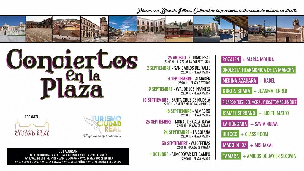 Conciertos en la Plaza una nueva manera de promocionar la provincia