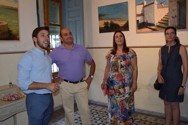 Exposicion de Samuel M Saucedo en la Semana Cultural de Pozuelo de Calatrava