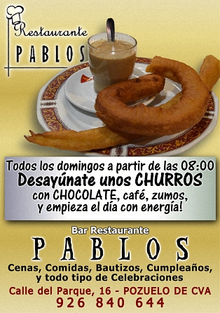 Desayúnate unos CHURROS!!