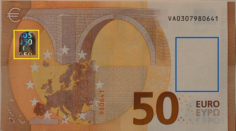 billete nuevo 50 euros cara b