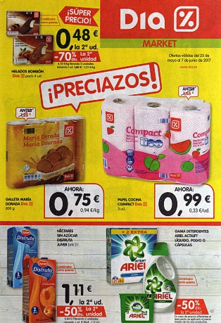 Ofertas DIA Del 25 de May al 07 de Jun 2017