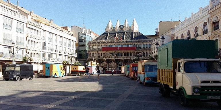 Ciudad Real Los food trucks listos para el concurso de tapas en la Plaza Mayor