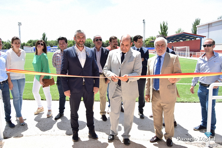 Pozuelo de Calatrava inauguró institucionalmente el remodelado Campo Municipal de Fútbol