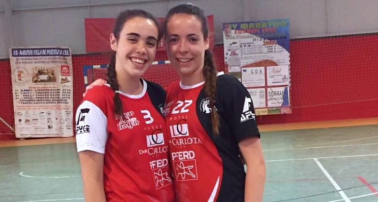 La internacional Jimena Laguna y la defensa Ángela Barba renuevan una temporada más con el BM Pozuelo