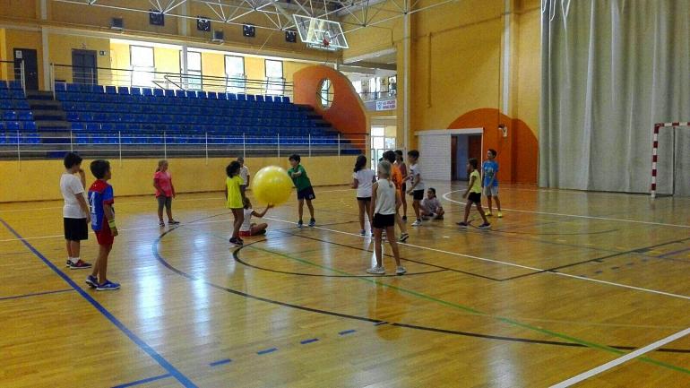 Taller de Balonmano en Miguelturra celebrado por el Club Balonmano Pozuelo de Calatrava
