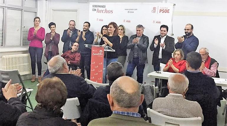 Pilar Espadas reelegida secretaria general del PSOE de Pozuelo de Calatrava