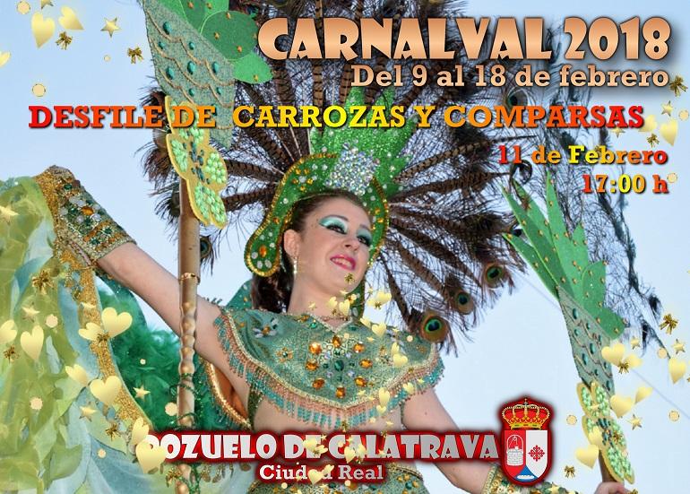 Pozuelo de Calatrava Programación Carnaval 2018 para hoy, domingo 11 de febrero