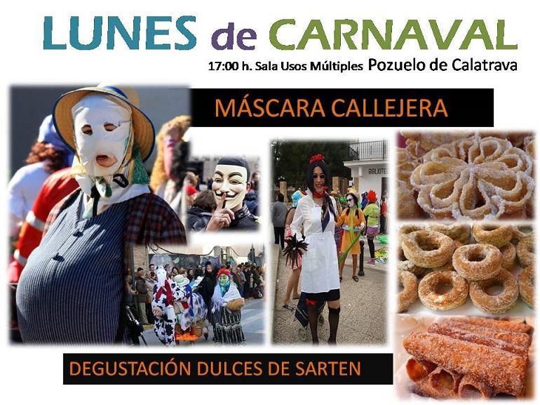 Pozuelo de Calatrava Programación Carnaval 2018 para hoy, lunes 12 de febrero