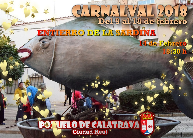 Pozuelo de Calatrava Programación Carnaval 2018 para hoy, miércoles 14 de febrero