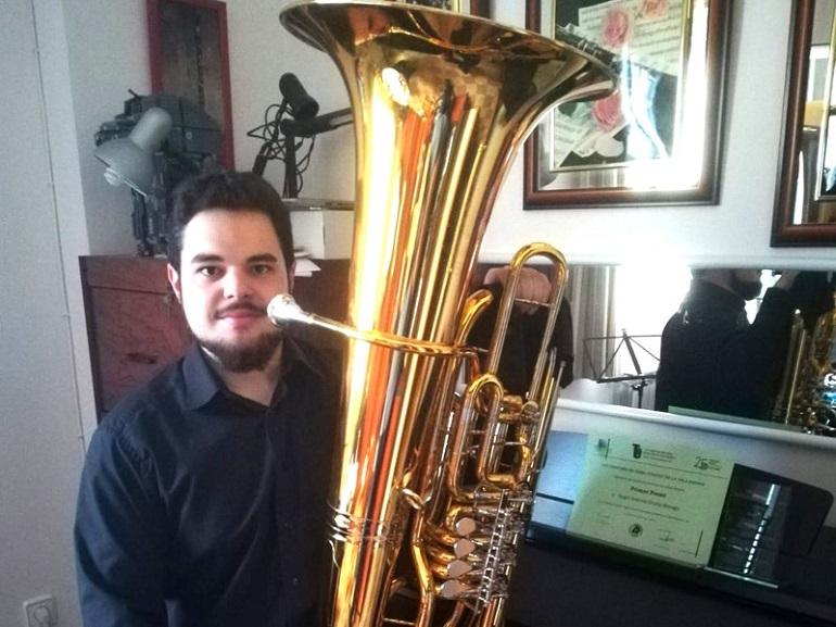 Miguelturra Ángel Antonio Ocaña Moraga se alza con el primer premio en el Concurso Nacional de Tuba