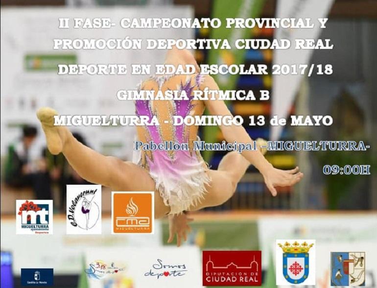 Miguelturra celebra el Campeonato Provincial de Gimnasia Rítmica este domingo en el Pabellón Municipal de Deportes