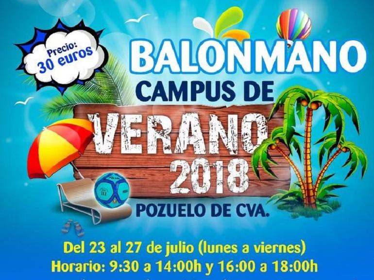 El Club BM Pozuelo organiza un año más el Campus de Balonmano Verano 2018