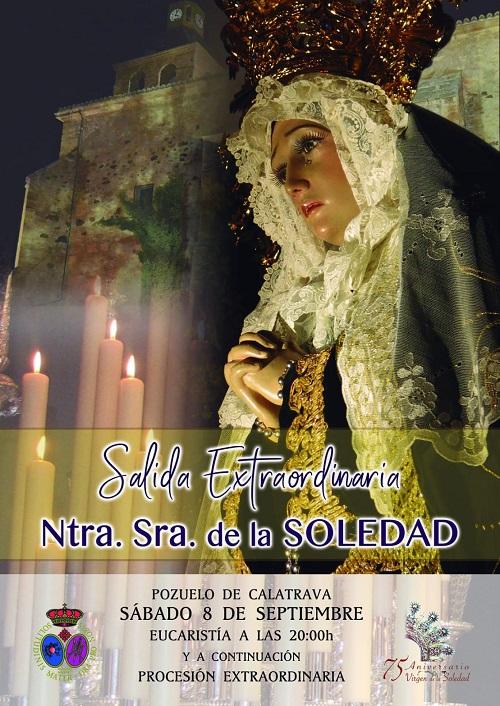 Procesion extaordinaria de la Virgen de la Soledad de Pozuelo de Calatrava