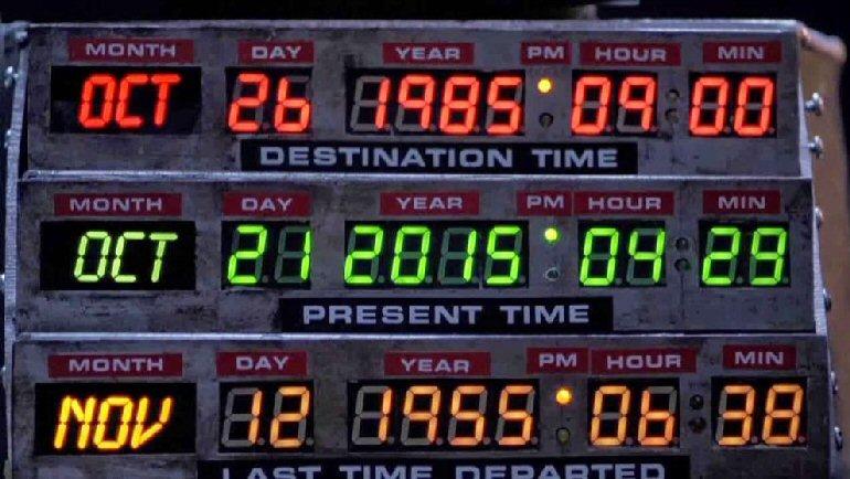 Marty McFly llega hoy de Regreso al futuro