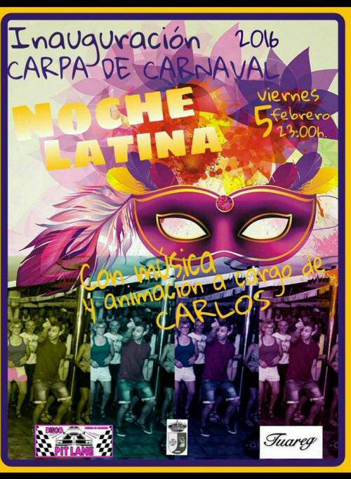 noche latina carnaval 2016 pozuelo calatrava