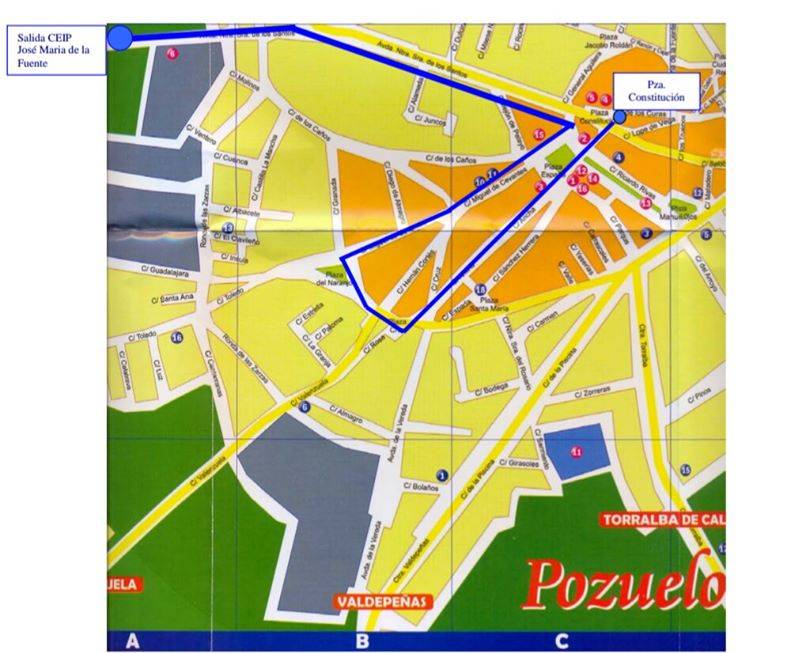 plano desfile carnaval 2016 pozuelo de calatrava