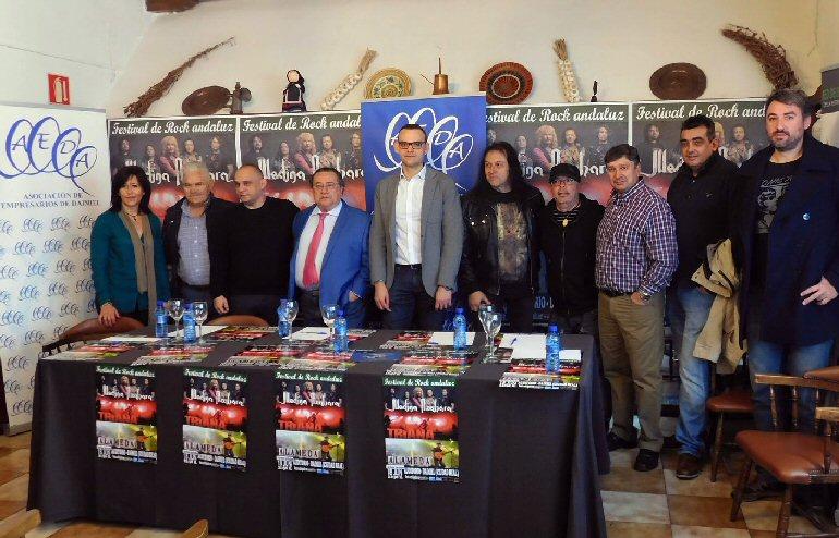Daimiel Triana, Alameda y Medina Azahara actuarán en el Festival de Rock Andaluz el 18 de junio