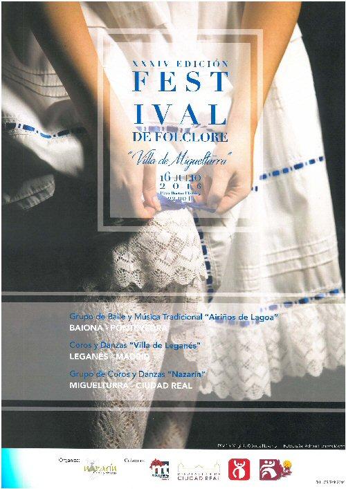 Miguelturra acoge este sábado el XXXIV Festival Folclore Villa de Miguelturra