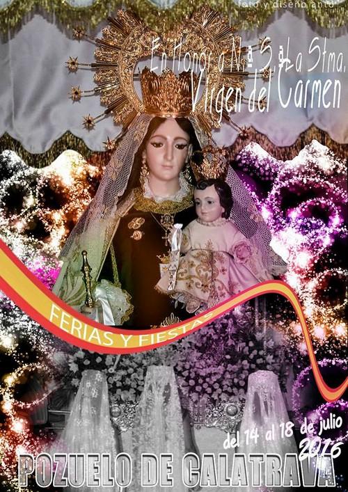 Pozuelo de Calatrava Programación Feria y Fiestas 2016 en honor a la Virgen del Carmen