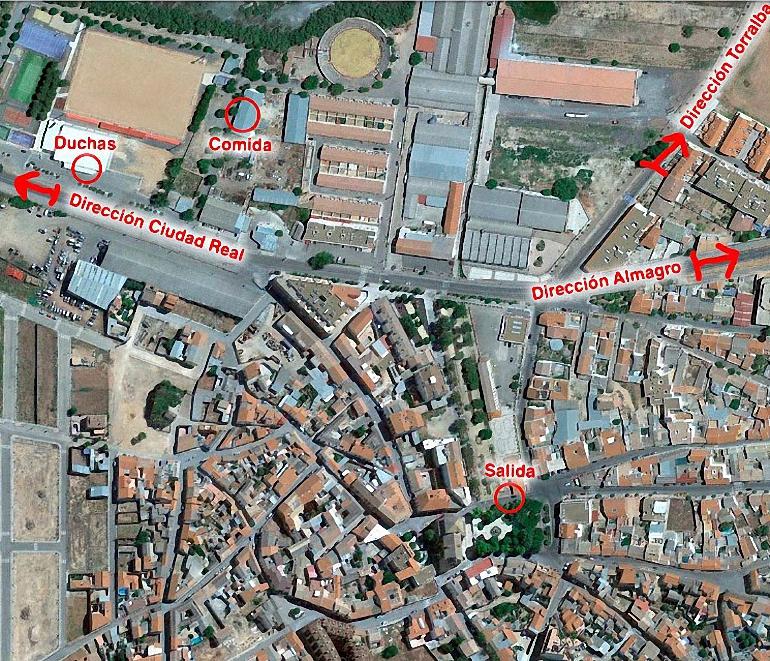 plano pozuelo de calatrava VII marcha cicloturista