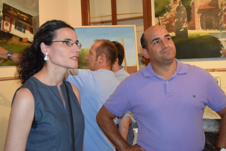 Exposicion de Alicia Madroñero Galindo en la Semana Cultural de Pozuelo de Calatrava