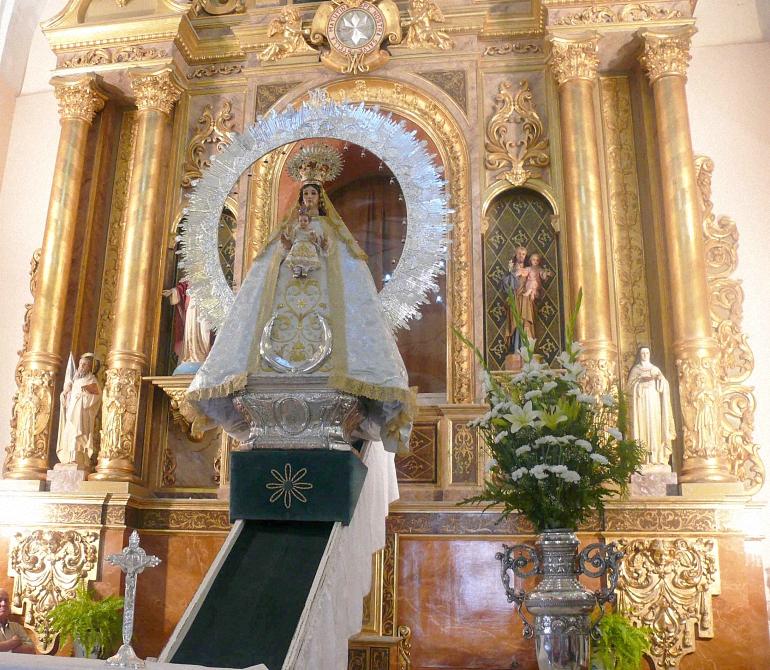 Miguelturra La Virgen de la Estrella ya ha sido bajada del Camarin para celebrar el día de la Patrona