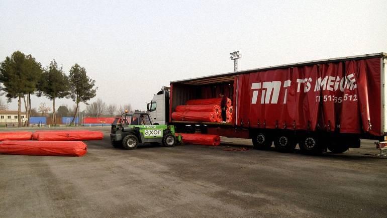 Cesped Artificial para el Campo de Futbol de Pozuelo de Calatrava