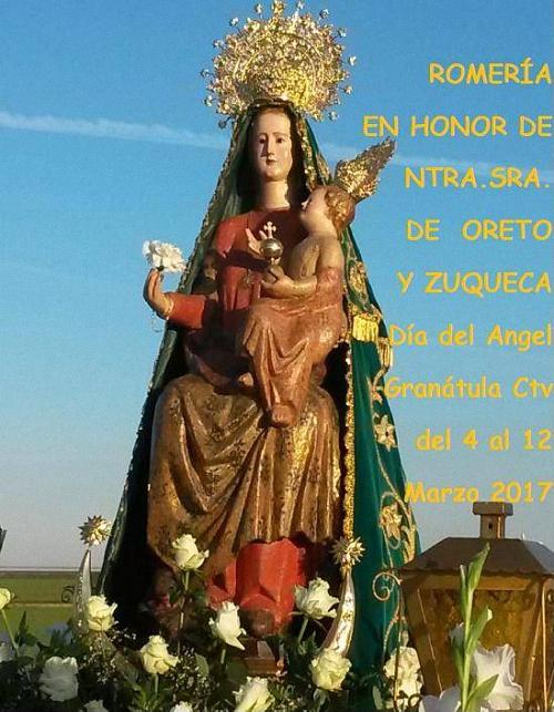 Granátula de Calatrava celebra este fin de semana la Romería de la Virgen de Oreto y Zuqueca