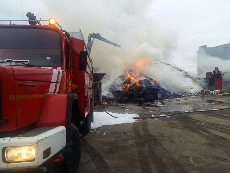 Torralba de Calatrava Incendio en una nave del Polígono Industrial La Vega