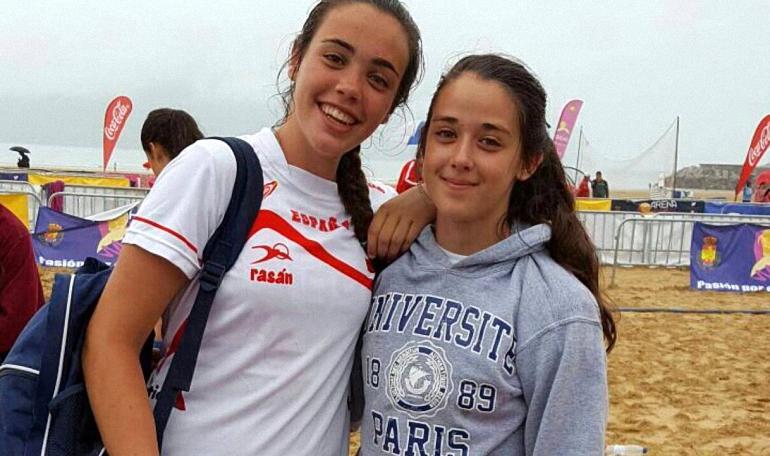 Dos Campeonas de España en la Selección Nacional Juvenil de Balonmano Playa