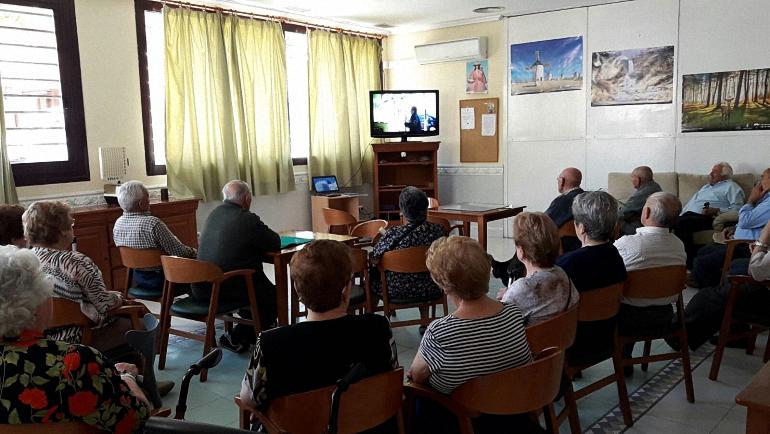 Pozuelo de Calatrava La Guardia Civil impartió una Jornada de Seguridad a nuestros mayores en el Hogar del Jubilado
