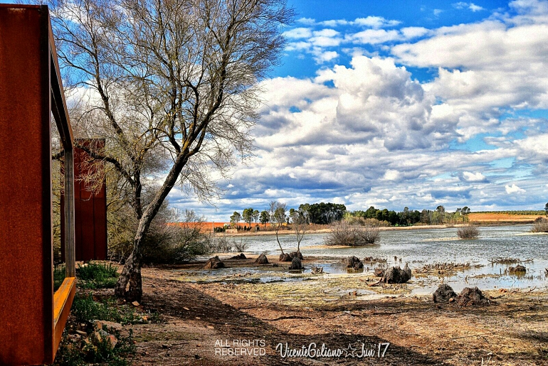 Mirador de la laguna La Inesperada de Pozuelo de Calatrava
