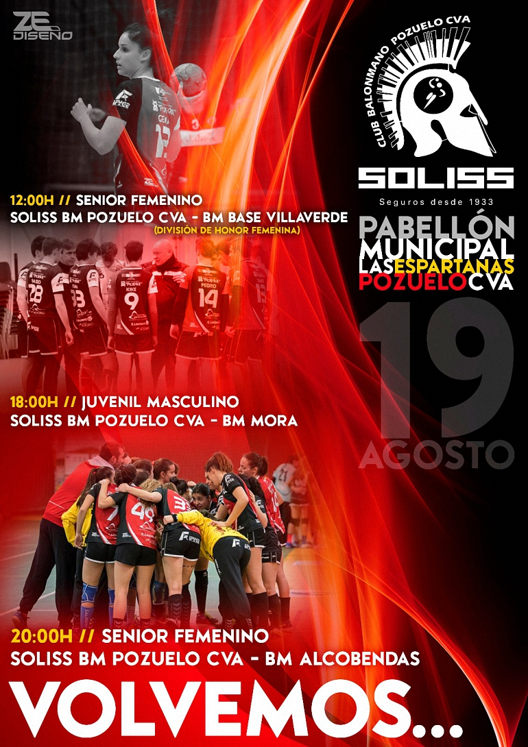 Partidos Amistosos Club Balonmano Pozuelo pretemporada 2017/2018