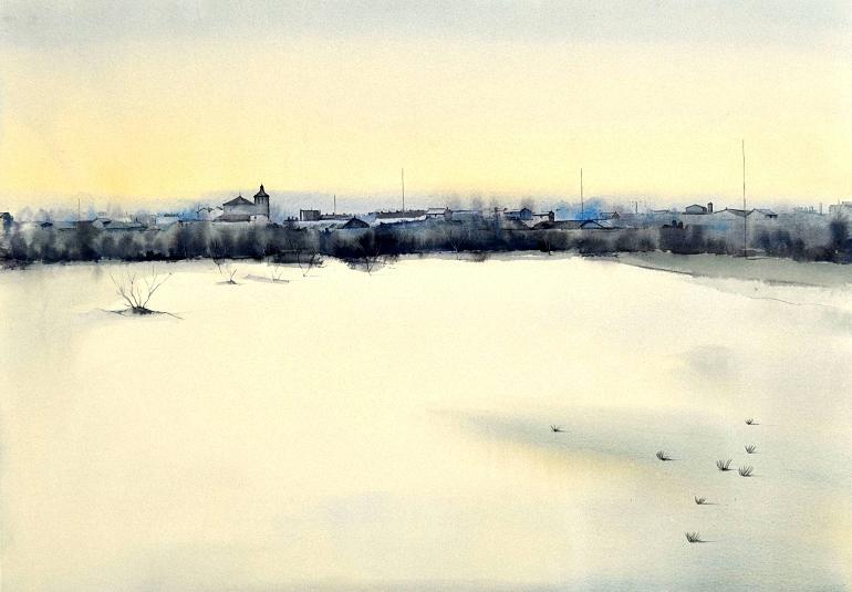 Tercer Premio Certamen Nacional de Pintura Rapida Villa de Pozuelo de Calatrava