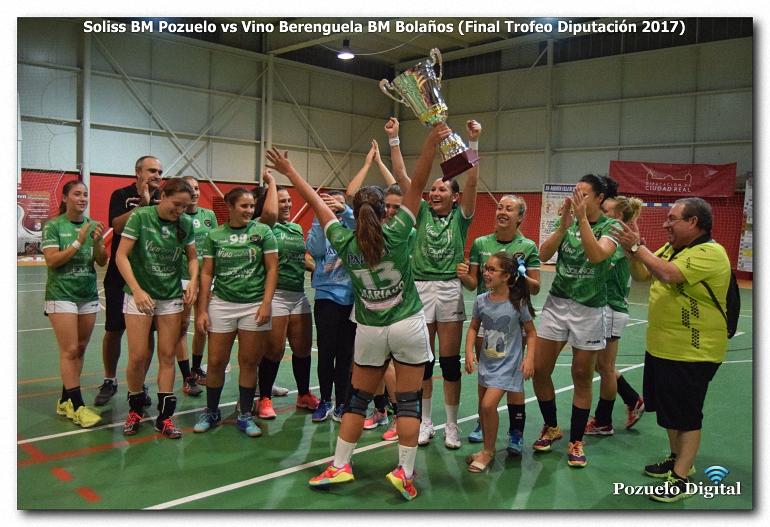 El Vino Berenguela BM Bolaños revalida el Trofeo Diputación un año más frente al Soliss BM Pozuelo