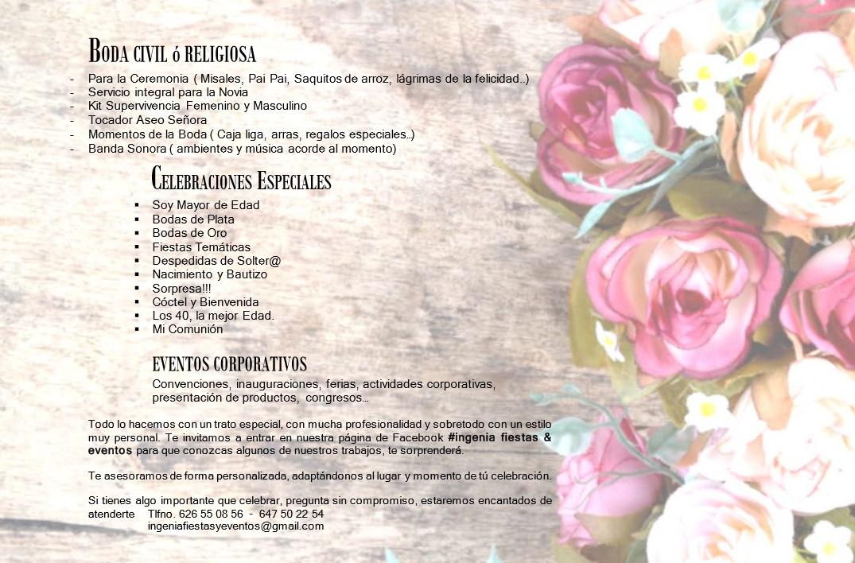 Dossier Ingenia, Fiestas y Eventos 02