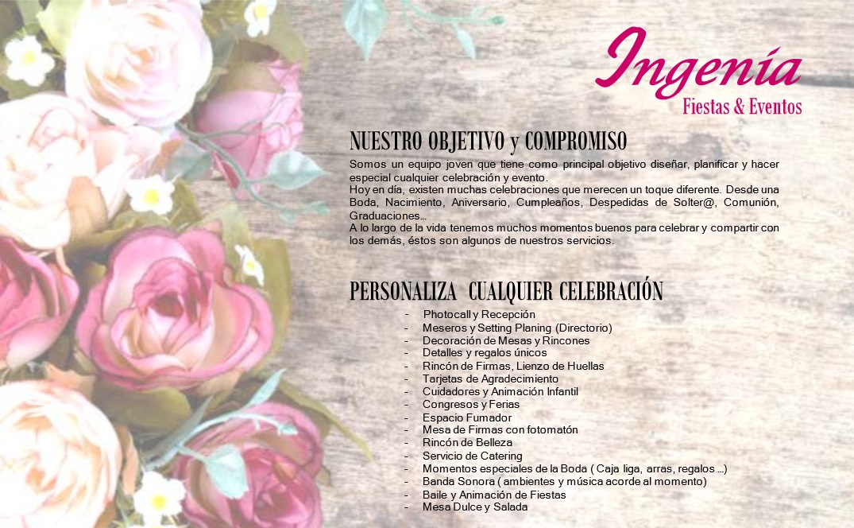 Dossier Ingenia, Fiestas y Eventos