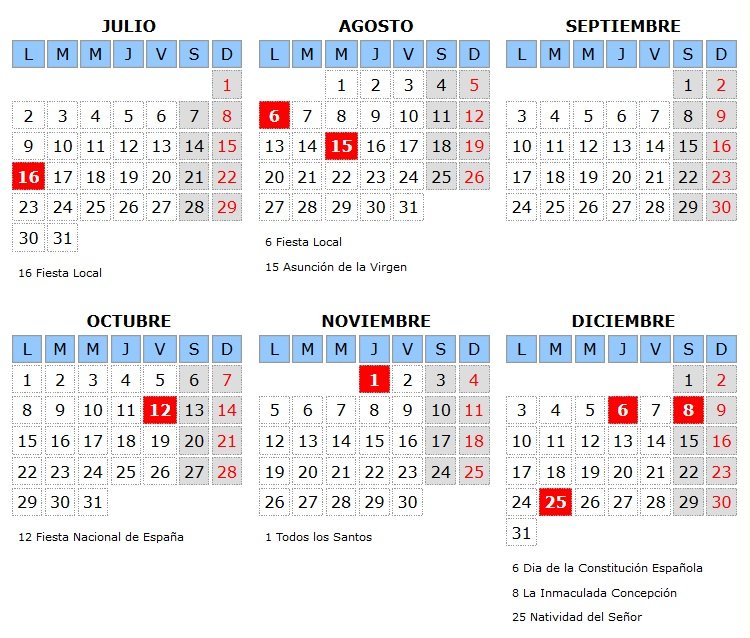 Calendario Laboral Espana.Calendario Laboral 2018 Para Pozuelo De Calatrava Pozuelo Digital