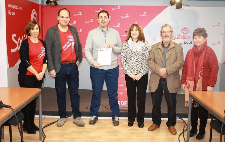 PSOE de Ciudad Real y Sindicatos apoyan los paros convocados para el 8 de marzo con motivo del Día Internacional de la Mujer