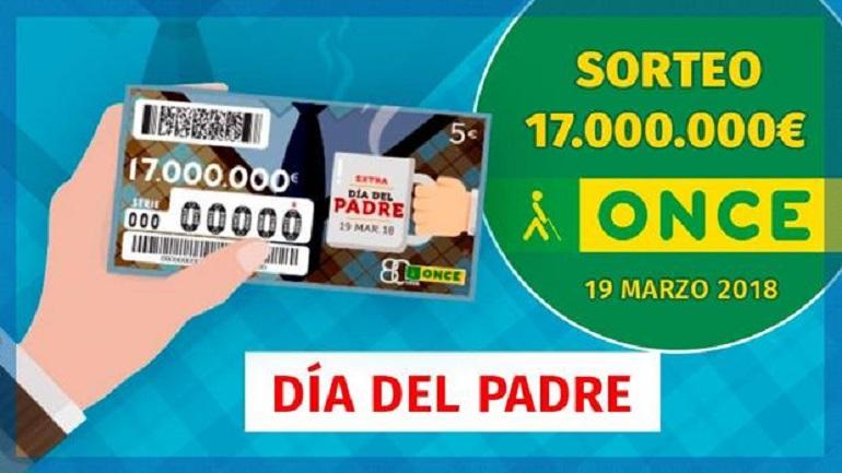 Bolaños El cupón de la ONCE reparte un premio de 80.000 euros en el sorteo del Día del Padre