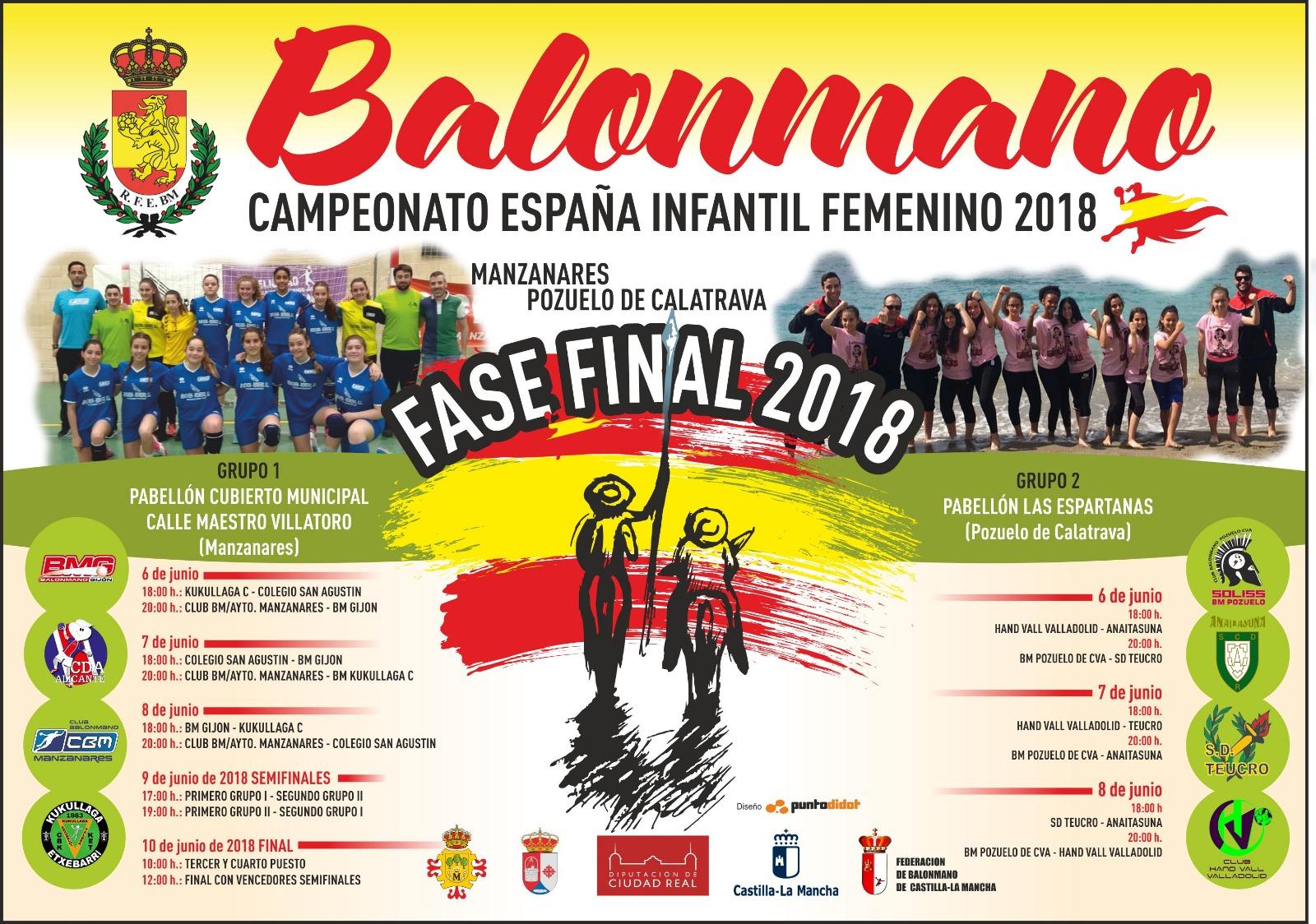 Fase Final Campeonato de España 2018 de Balonmano Infantil Femenino