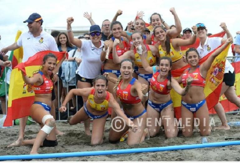 Un meritorio quinto puesto de Jimena Laguna con las Guerreras Juveniles de la Arena en el Europeo de Montenegro