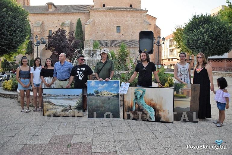 """Pozuelo de Calatrava El puertollanero Orencio Murillo gana el """"III Certamen Nacional de Pintura Rápida"""" con una obra sobre la Laguna La Inesperada"""