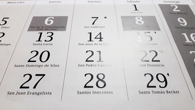 Castilla La Mancha Publicados los días inhábiles a efectos administrativos del próximo año 2019
